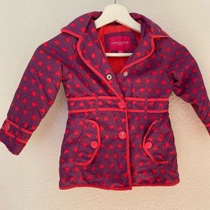 London fog girls fleece lined jacket